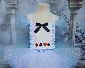 Alice in wonderland style tutu dress