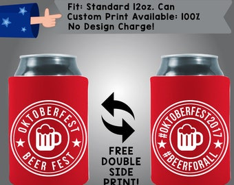 Oktoberfest Collapsible Neoprene Can Cooler Double Side Print (Oktoberfest01)