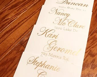 Custom address calligraphy