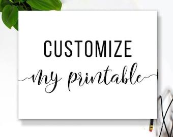 Customize My Printable!