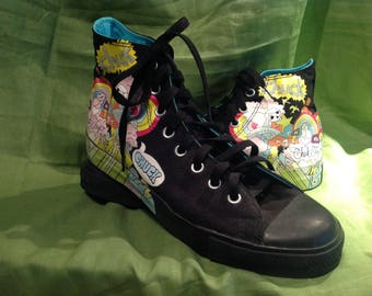 Converse All Star Chuck Taylor Psychedelic  'Chuck' HighTops Size 10 Men's