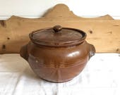 Brown Stoneware crock, st...