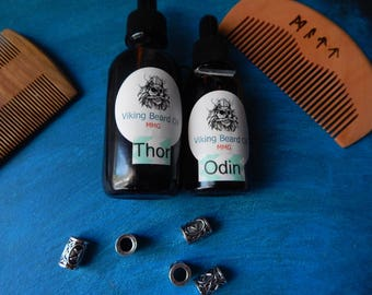 Viking Beard Set Beard oil mustache gifts gifts for men beard beads