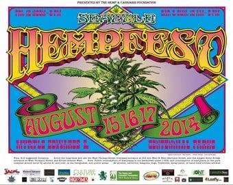 2014, Flower Poster by Seattle HEMPFEST®