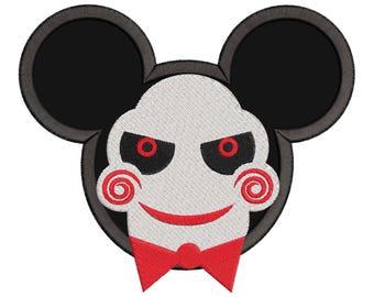 Jigsaw Mickey Ears Applique Design - Mickey embroidery design - Disney embroidery design - Jigsaw Applique Design