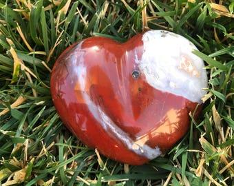 Red Jasper Gemstone Heart