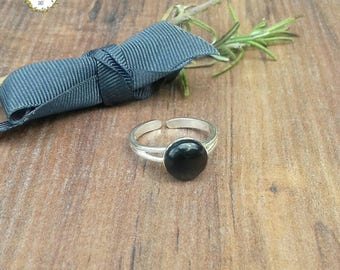 Onyx 925 Silver Ring, Black Stone Ring, Jewellery Gift for Positivity,