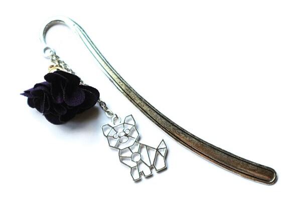 Cat Bookmark - Dog Bookmark - Origami Cat - Metal Bookmark - Book Accessories - Cat Gifts - Dog Gifts - Gifts for Readers - Origami