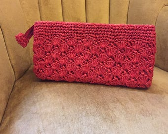50's Red Clutch