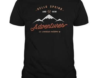 Spring Adventure T-shirt.outdoors adventure t-shirt,hiking tees,outdoor tshirt,climbing t-shirt,sml-5xl sizing,spring adventure shirt,gifts