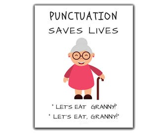 Punctuation poster | Etsy