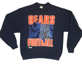 Vintage Chicago Bears Sweater Salem Sportswear Crewneck sweatshirt pullover NFL DA Bears 90s size xl
