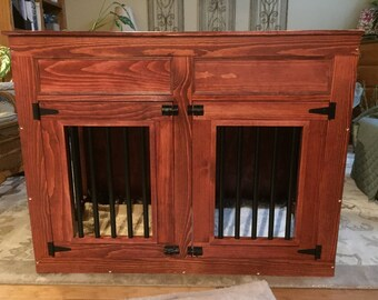 Custom made dog kennel, pet cage, pet kennel, handmade, homemede, gift, made in USA.