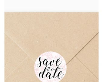 24 x Save the date stickers, Engagement stickers, Save the date labels, Envelope seals, Engagement labels, Save the date 108