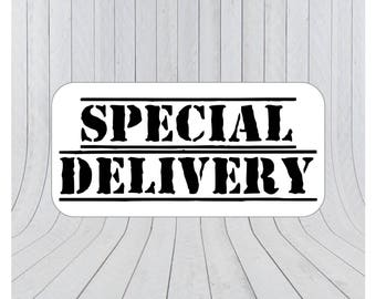 24 x Special Delivery Stickers, packaging stickers, Mail stickers, packaging labels, delivery stickers, special delivery labels 128