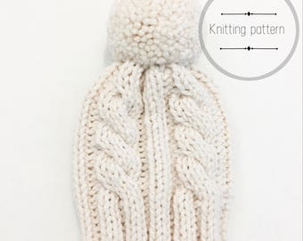 Twisted Cable & Rib Hat Knitting Pattern   knitting hat pattern   cable knitting hat pattern   hat pattern