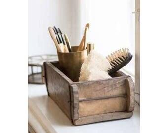 Vintage Hardwood Brick Mould, Wooden Storage box, display piece. Trinket / jewellery box
