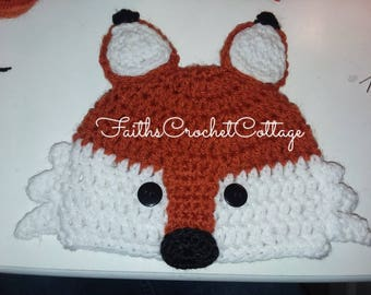 Baby Fox Hat & Diaper Cover To Match