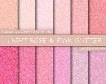 Glitter Digital Paper, Glitter Paper, Scrapbook Paper, Chunky Glitter, Glitter, Glitter Texture, Glitter Digital, Glitter Background, Light