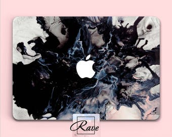 Black Marble case New MacBook pro Liquid painting MacBook case 13 inch MacBook air 11 cover Protective case 15 laptop sleeve a1706 MacBook