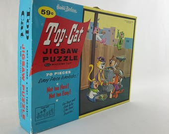 Hanna Barbera's Top Cat Puzzle-Vintage Jigsaw Puzzle-70 Piece Puzzle-Retro Kids Puzzle-Children's Games From The 60s
