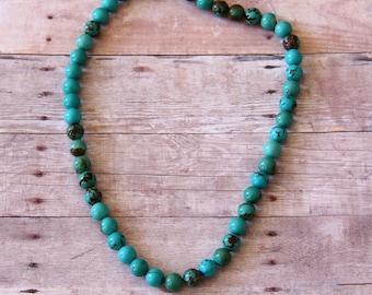 8 mm Turquoise Round Beads - STONE 040