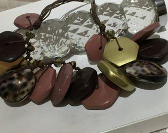Vintage Chunky Bib Colar Necklace