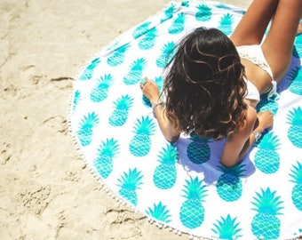 Lightweight 60 x 60 round beach towel