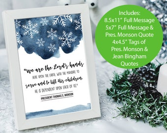 December 2017 Visiting Teaching Message Handouts, Modern VT Printables, LDS, Relief Society