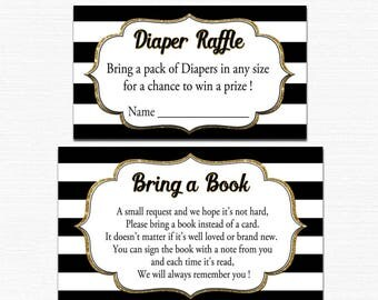 Bring a book baby shower insert Bring a book for a prize