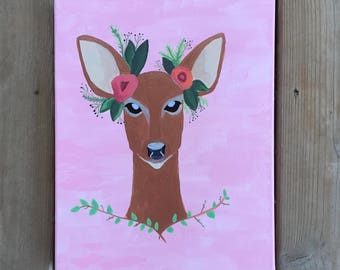 Boho Deer Canvas