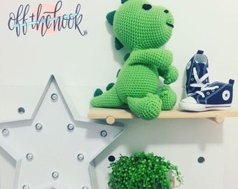 READY TO SHIP - Darcy the Dinosaur - Handmade Crochet Soft toy