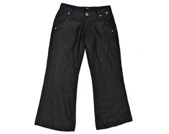 Vintage Phard women pants black 100% linen
