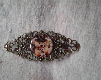 """brooch """"Teddy bear dressed as"""""""