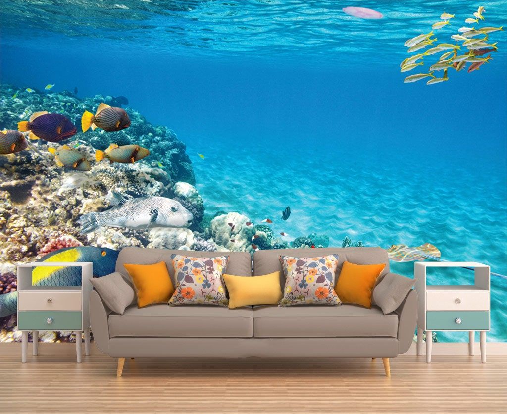 Underwater Wall Mural Undersea Wall Mural Seals And Nemo Detail - Underwater wall decals