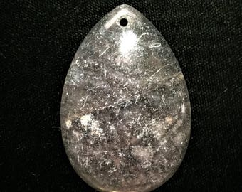 Natural Fluorite Agate Teardrop Stone Pendant Bead