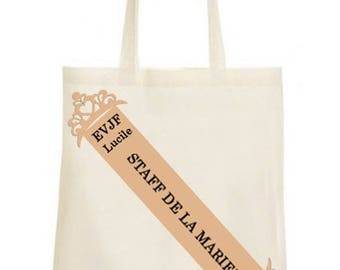 Tote bag personalized banner girl bachelorette party