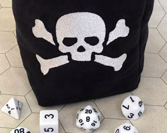 Poison Skull Tabletop Drawstring Gaming Dice Bag Pouch Dungeons and Dragons Dnd Role-Playing Board Game Miniatures Polyhedral Dice Rpg