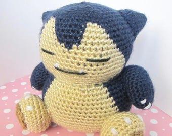 Crochet Snorlax Pokemon Handmade,