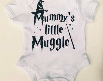 Mummy's Little Muggle Vest - Harry Potter Inspired Onsie -  Muggles Clothes