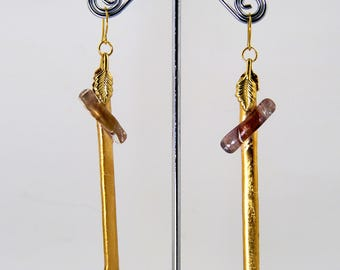 Threads of Gold Drop Earrings