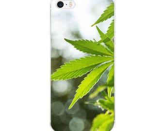 Pot leaf beautiful detail plant photo Cannabis Marijuana Colorado Phone Case