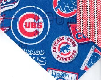 Chicago Cubs Retro Bandana | Dog Bandana | Over the Collar Dog Bandanas | Custom Dog Bandana