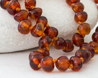 Amber Teething Necklace - Lovely Cognac Colour
