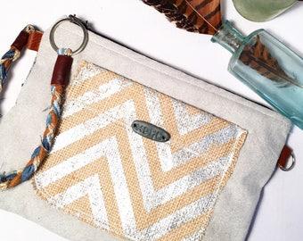 Naturals Clutch purse wristlet zipper pouch