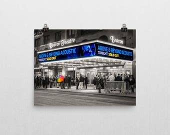 Beacon Theater, Black and White, Selective Color, ABGT Rainbow Umbrella, Above & Beyond, Acoustic Wall Art