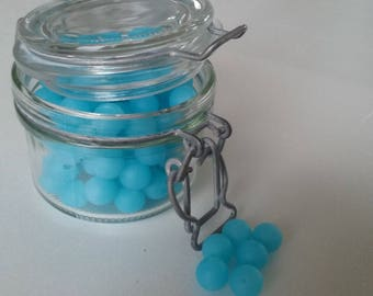 round beads blue Frost 100% silicone with 12mm for making sweet...