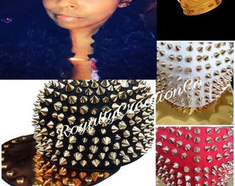 Studded Gold Plated Bib Snap Back Cap
