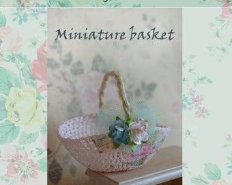 Miniature Linen basket