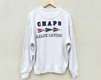 Vintage Ralph Lauren Chaps Sweatshirt Embroidery